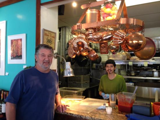 Bella Bistro: The owner/chef and kitchen