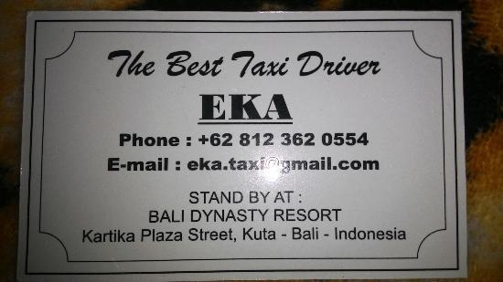 Anapuri Villas: Bali Driver airport pick up and back.
