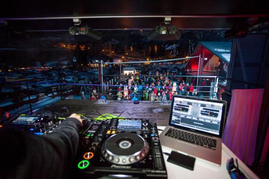 El Tarter, Andorra: dsede la cabina del DJ
