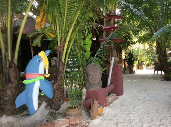 Dolphin Bungalows: Eingang vom Strand
