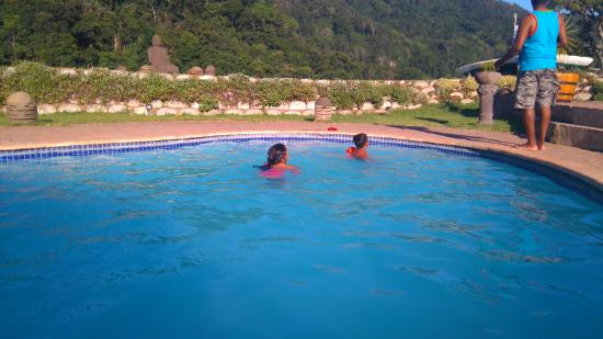 Port St Johns, Zuid-Afrika: in the pool