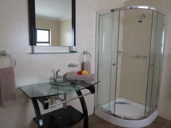 Galagos Lodge : Luxury Rooms Shower and Basin