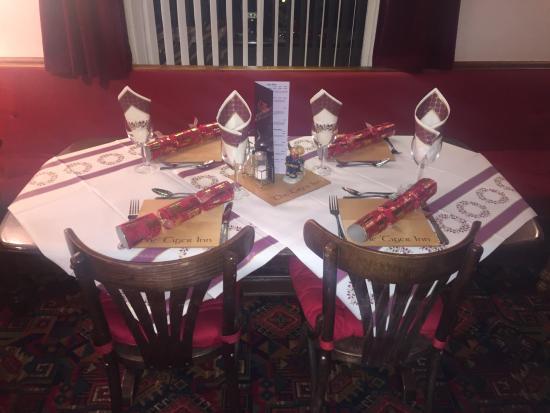 Christmas Dinner Table set up - Picture of Tiger Inn, Easington ...
