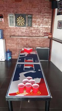 Liberty Sports Bar: darts and  4 beer pong tables