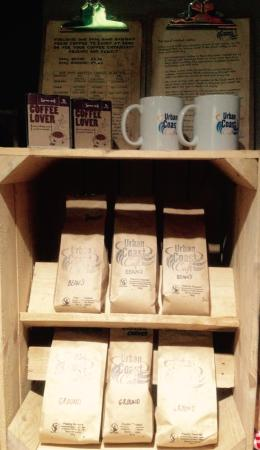 Honiton, UK: Purchase our hand bagged 200g coffee on sight.