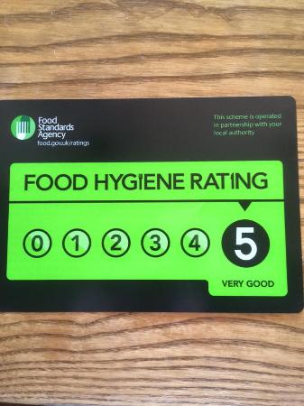 Clay Cross, UK: Our Food Hygiene Rating