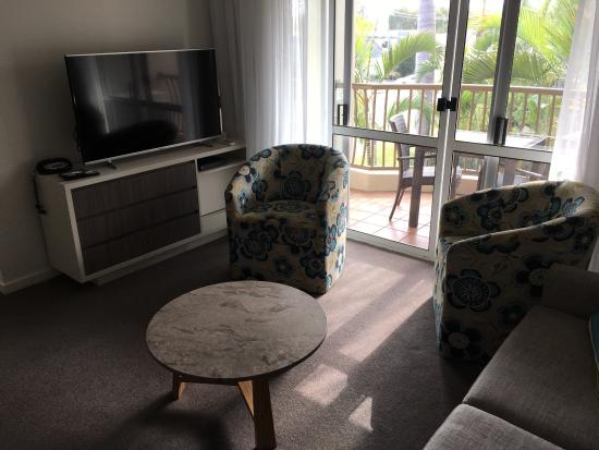 Caloundra, Australië: Waterpark, close to shops, room & view
