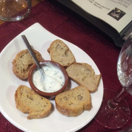 Aranc, Francja: Fromage blanc avec des herbes
