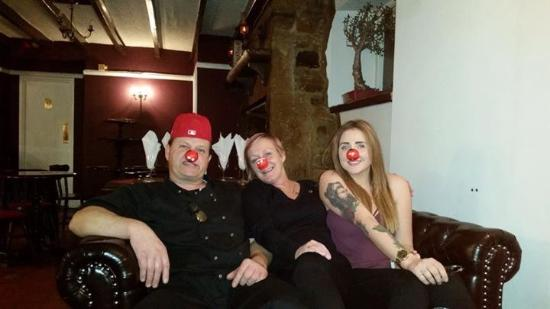 Thropton, UK: Red Nose Day with the owner