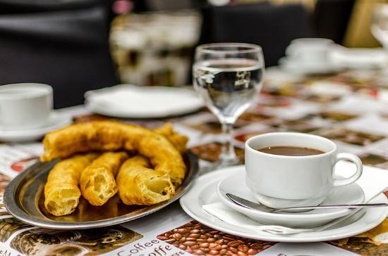 Mairena del Aljarafe, Espanha: Delicioso Chocolate con churros
