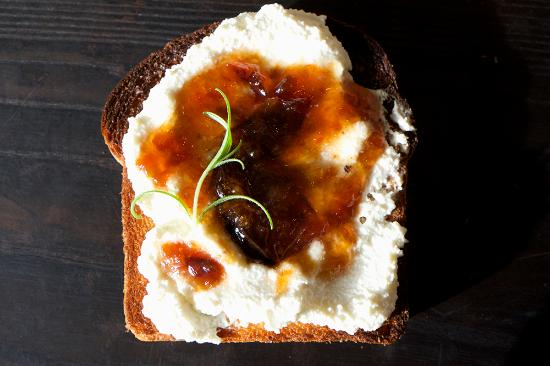 Saugerties, NY: Ricotta and Plum Jam Brioche Toast