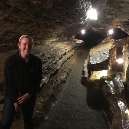 Mark Twain Cave and Cameron Cave: My wife and I visited in late January 2016.  Our tour guide, Lydia, was wonderful, making it bot