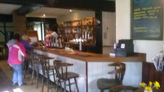 Great Hockham, UK: The bar area