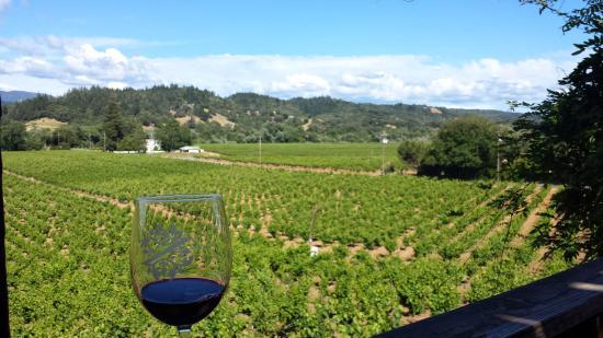 Healdsburg, Kalifornien: View from the deck, a perfect picnic spot