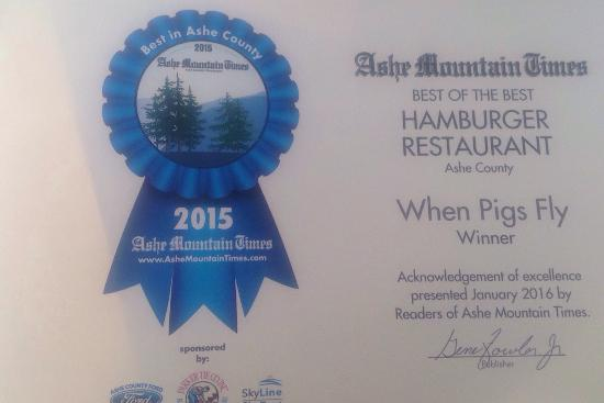 West Jefferson, NC: Ashe Counties Best of the Best!! Voted for 2015!! We are worth the visit!!