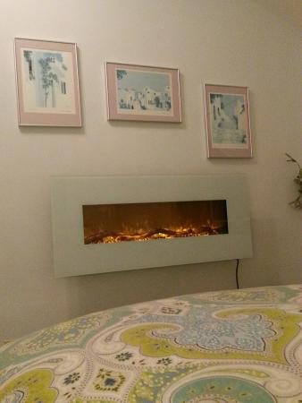 "Boreas Bed and Breakfast Inn: The Pacifica's 50"" electric fireplace"