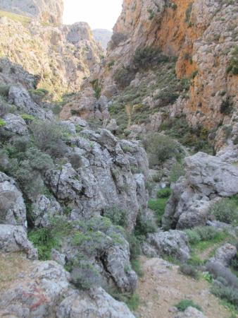 Lasithi Prefecture, Yunanistan: Hiking trail Perivolakia Gorge