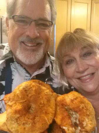Boreas Bed and Breakfast Inn: The Wild Lobster Mushroom and Innkeepers, Susie and Bill