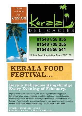 Kingsbridge, UK: KERALA FOOD FESTIVAL