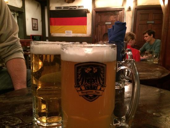 Biergartenhaus : Ahhh! Big liter of cold beer.
