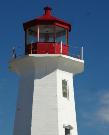 top of Peggy's Cove lighthouse