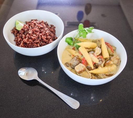 Bophut, Tajlandia: Vegetables green curry - InFusion Cooking Classes Samui