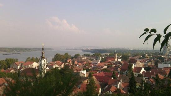 beautiful view (from Gardos) on Zemun and Belgrade