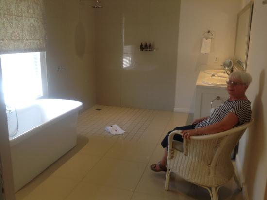 The Last Word Franschhoek: View of bath/shower area from inside