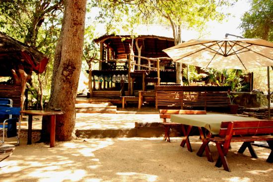 Off Beat Safaris & Bush Lodge : Living/braai kitchen area.