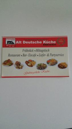 Alt Deutsche Küche Elbbrücken: Biglietto Da Vidita