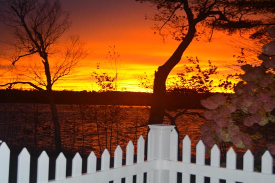 Poland, ME: Fire In The Sky at Wolf Cove Inn