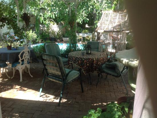 Keetmanshoop, Namibia: View of the shady garden