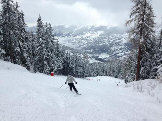one of the pistes to Les Coches