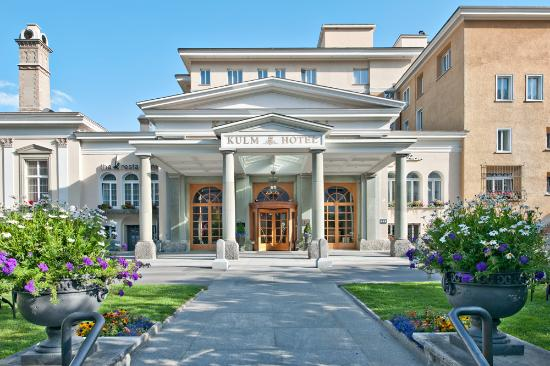 Kulm Hotel St. Moritz: Entrance Summer