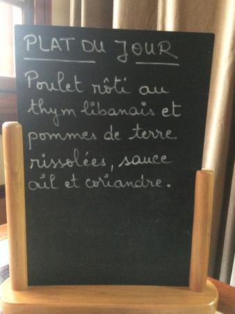 Vincennes, Francia: Plat du jour (mercredi 3 février )
