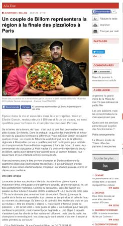Article journal la montagne picture of pizzeria le petit naples champion de - Le journal la montagne ...