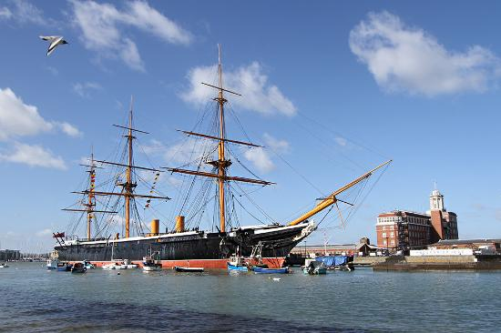 HMS M.33: HMS Warrior the largest warship in the world when built at 9,210 tons displacement.