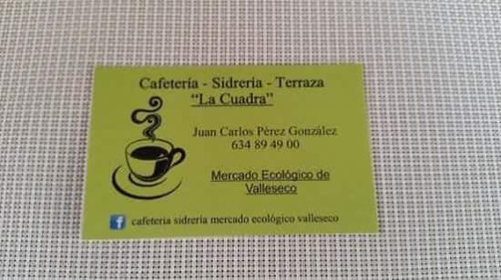 Valleseco, Spagna: Cafeteria Sidreria La Cuadra