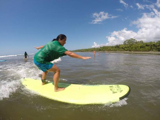 Uvita, Costa Rica: Surf lessons in Playa Hermosa