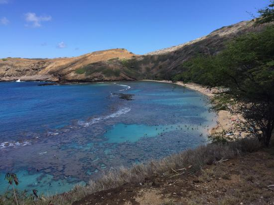 Hanauma Bay Nature Preserve: View from the hill top