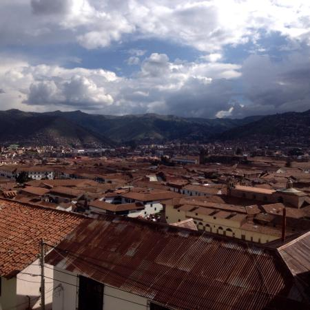 The Walkon Inn Cusco: View from the dining area/TV room