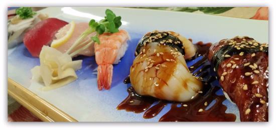 Musashi's Japanese Cuisine & Sushi Bar: Nigiri   Unagi, BBQ Scallop,Ebi,Hamachi,Maguro,Saba...