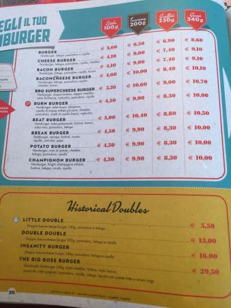 Castel Maggiore, İtalya: listino hamburger