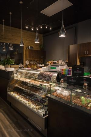 Rouyn-Noranda, Canada : Comptoir à chocolats