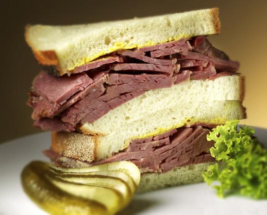 Radlett, UK : Our delicious Salt Beef Sandwich