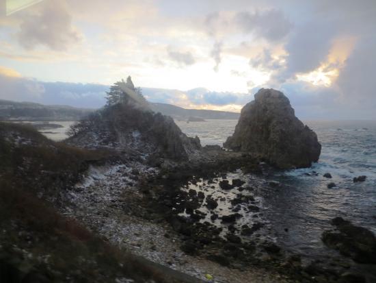 Fukaura-machi, Japón: 千畳敷の夕日