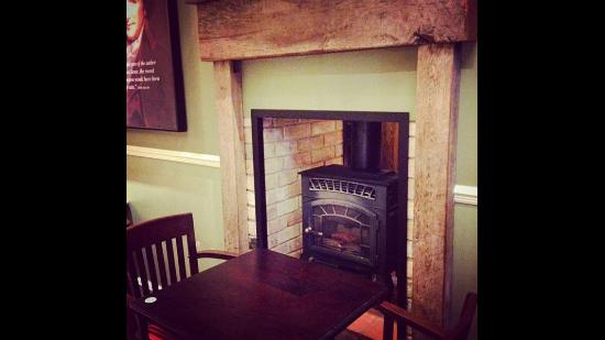 Thetford, UK : During the colder months, we have working fires for you to sit next to. Cosy!