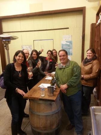 Healdsburg, CA: in the barrel room on a rainy day