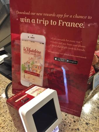 Rewards App - Picture of La Madeleine, Round Rock - TripAdvisor