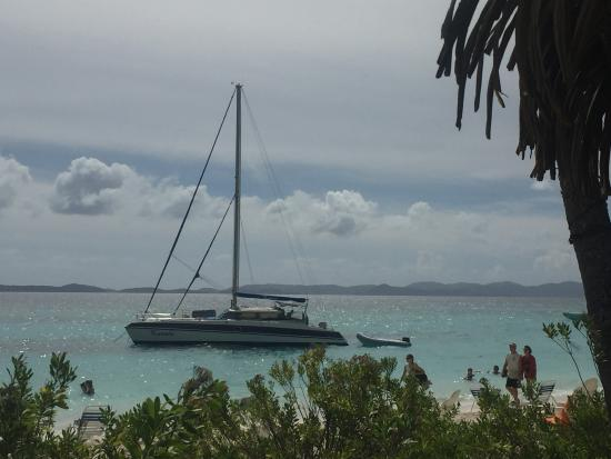 Road Town, Tortola: Kuralu anchored in White Bay